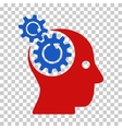 Brain Gears Rotation Icon vector image