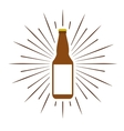 beer bottle isolated icon vector image