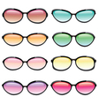 Set of Sunglasses vector image