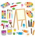 set of isolated drawing tools vector image