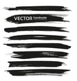 big black long brush strokes set isolated on a vector image vector image