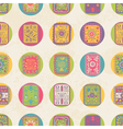 Seamless pattern with ethnic ornament polka dot vector image