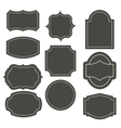 Big elegant frame set vector image