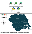 Yorkshire and the Humber vector image vector image