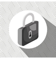 padlock isometric isolated icon design vector image