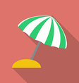 Beach umbrella icon Modern Flat style with a long vector image