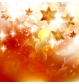Beautiful golden christmas stars on a golden bokeh vector image