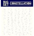 Big set of constellations vector image