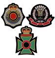 classic royal emblem badge vector image