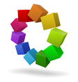 Colorful cubes 3D vector image