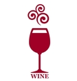 goblet of red wine vector image
