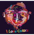 i love colors vector image