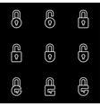 line locks icon set vector image