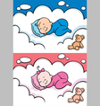 Sleeping baby vector image