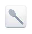 white teaspoon icon Eps10 Easy to edit vector image