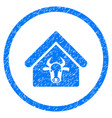 cattle farm rounded grainy icon vector image