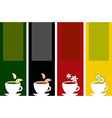 colorful tea labels vector image vector image