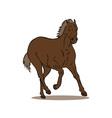 Horse Galloping Retro vector image vector image