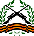 georgievsy ribbon and sniper rifles vector image vector image
