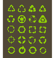 Collection of different recycle icons vector image vector image
