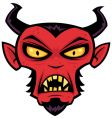 mad devil vector image vector image