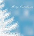 a white Christmas tree on a blue background vector image