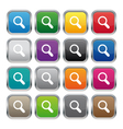 Search metallic square buttons vector image