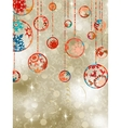 Christmas baubles on elegant background EPS 8 vector image