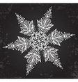 Beautiful hand drawn ornamental doodle snowflake vector image