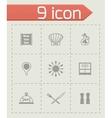 Chef icon set vector image