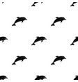 dolphin icon in black style isolated on white vector image