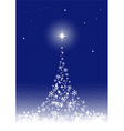 dreamful christmas tree vector image