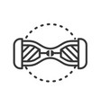 gyroscooter - line design single isolated icon vector image