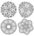 High quality set of round patterns with many vector image