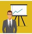 man business professional chart presentation vector image