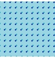 Polka dot blue double seamless pattern vector image