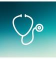 Stethoscope thin line icon vector image