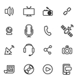 thin line icons - media vector image