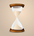 Vintage hourglass isolated on beige background vector image