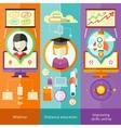 Webinar Distance Education and Improving Skills vector image