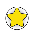 yellow star vector image