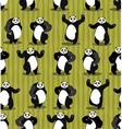 Panda seamless pattern Chinese bear ornament Set vector image