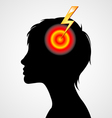 Terrible headache silhouette vector image