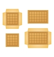Set of open boxes vector image