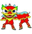 Chinese New Year Celebration Lion Dance vector image