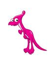 Lambeosaurus lambei cartoon vector image vector image