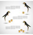 bird origami vector image vector image