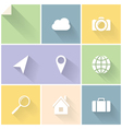 White flat icons vector image vector image