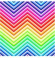 seamless rainbow chevron pattern vector image