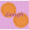 pastry dough for pizza or pie vector image